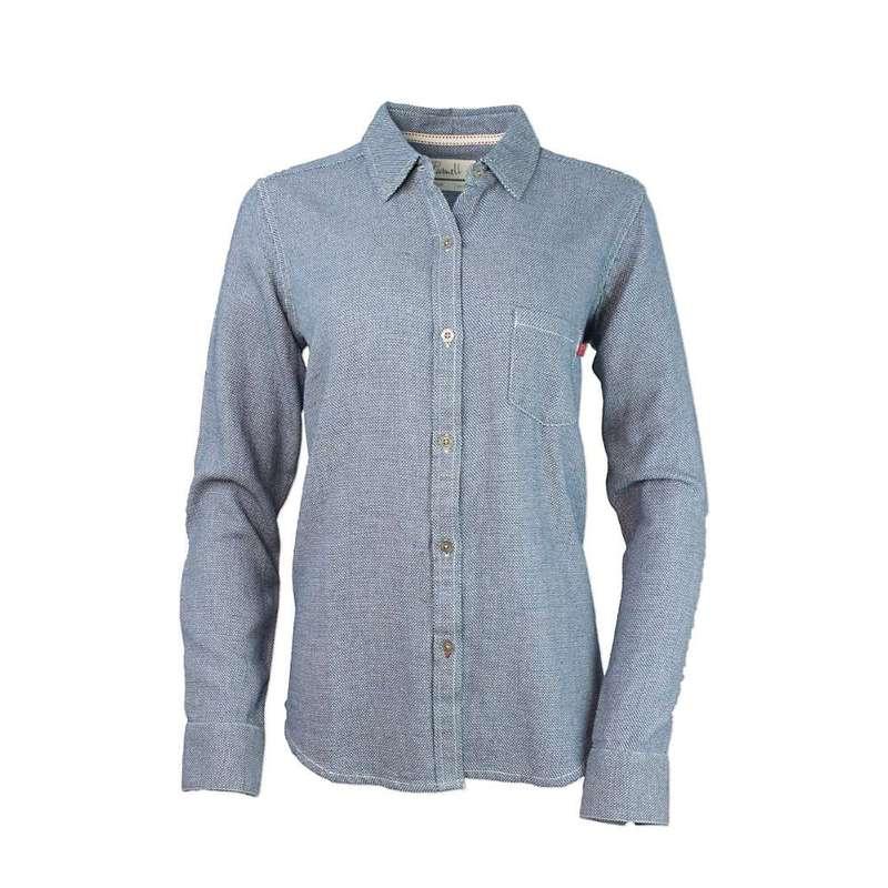 パーネル レディース シャツ トップス Purnell Women's Dobby Button-Up Shirt Indigo