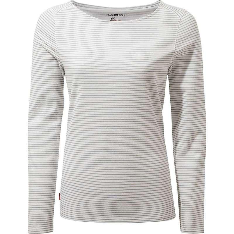クラッグホッパーズ レディース シャツ トップス Craghoppers Women's NosiLife Erin II LS Top Soft Grey Marl Stripe