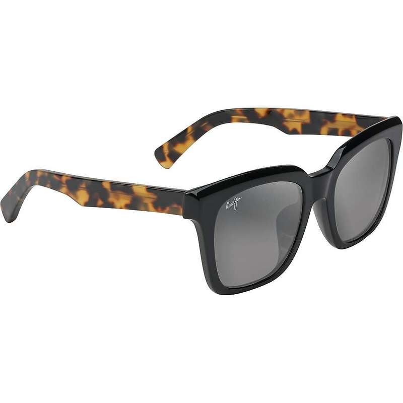 マウイジム レディース サングラス・アイウェア アクセサリー Maui Jim Women's Heliconia Polarized Sunglasses Gloss Black with Tokyo Tortoise/Neutral Grey