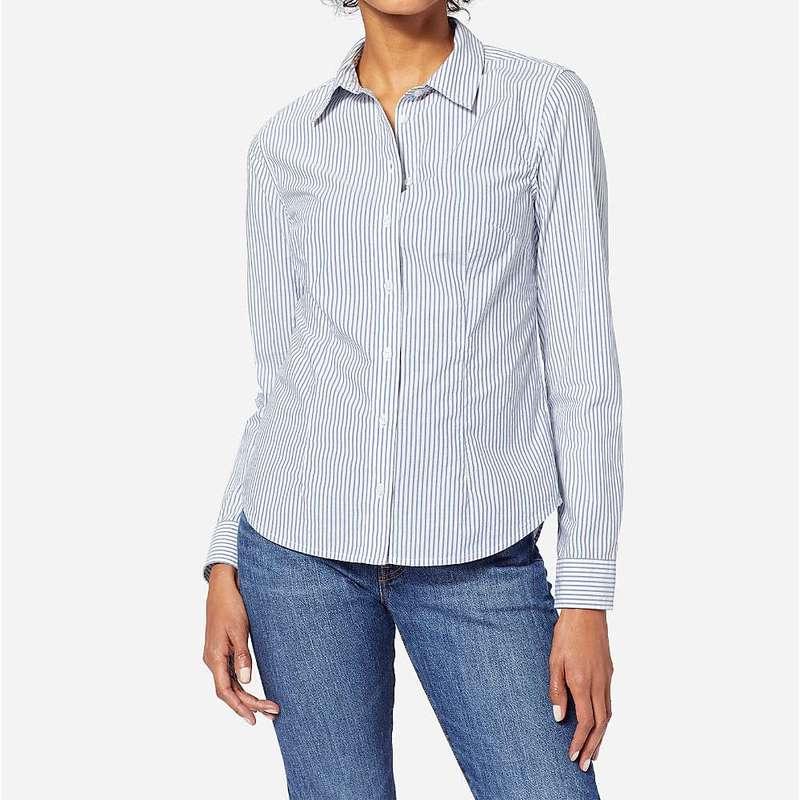 ペンドルトン レディース シャツ トップス Pendleton Women's Audrey Fitted Stripe Shirt Blue Stripe