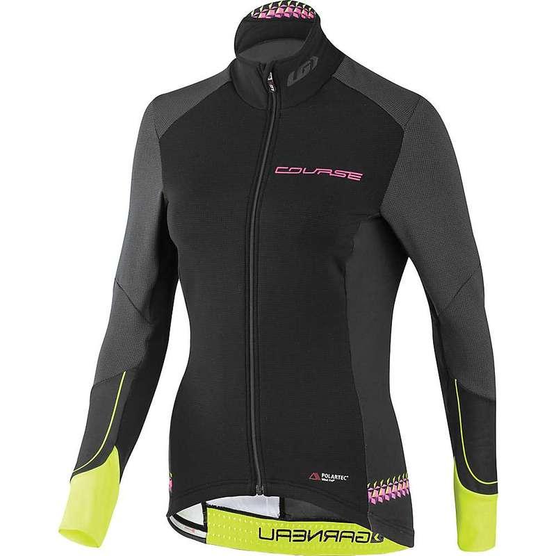 イルスガーナー レディース シャツ トップス Louis Garneau Women's Course Wind Pro LS Jersey Black / Yellow / Pink