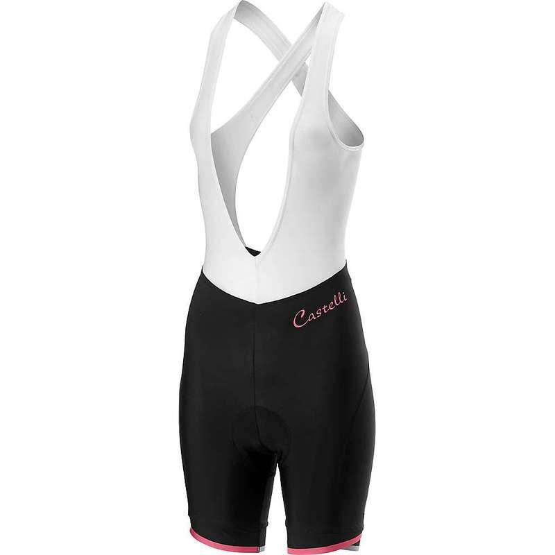 カステリ レディース ハーフパンツ・ショーツ ボトムス Castelli Women's Vista Bibshort Black/Pink