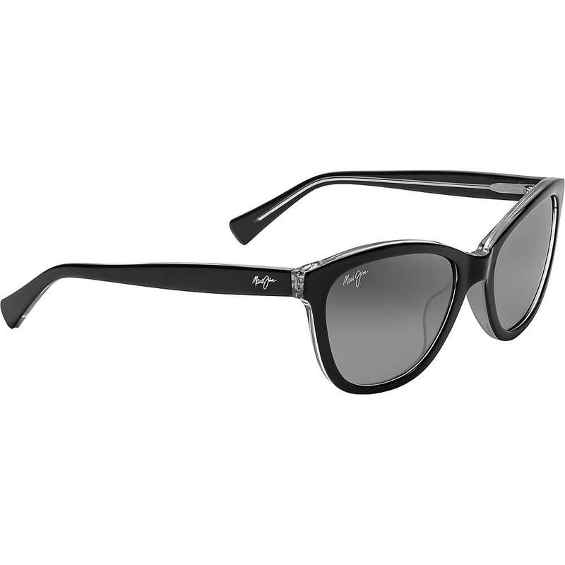 マウイジム レディース サングラス・アイウェア アクセサリー Maui Jim Women's Canna Polarized Sunglasses Black with Crystal/Neutral Grey