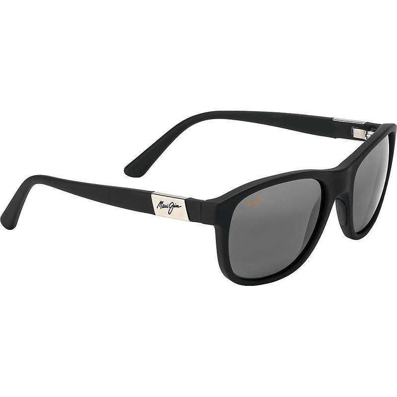 マウイジム レディース サングラス・アイウェア アクセサリー Maui Jim Women's Wakea Polarized Sunglasses Matte Black Rubber/Neutral Grey