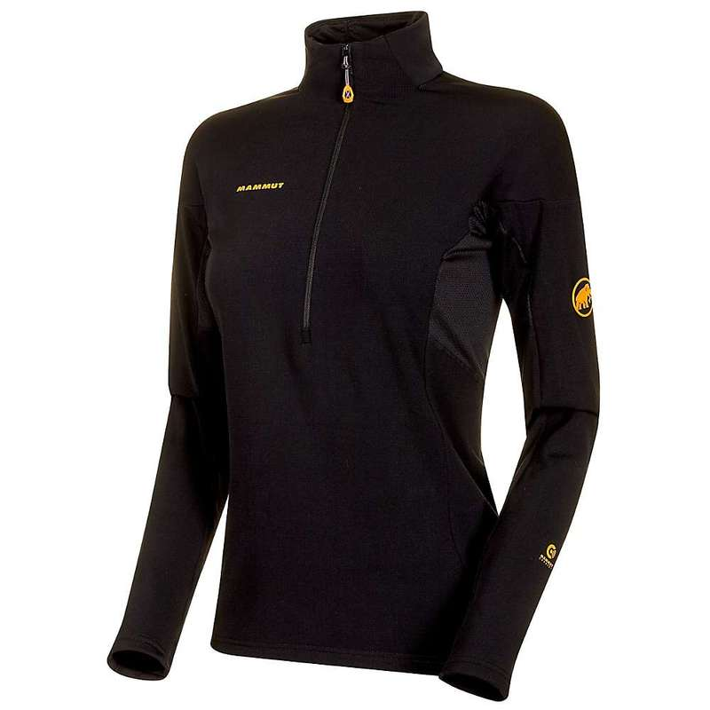 マムート レディース シャツ トップス Mammut Women's Moench Advanced Half Zip LS T-Shirt Black