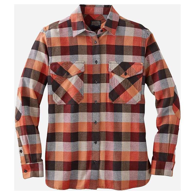 ペンドルトン レディース シャツ トップス Pendleton Women's Elbow Patch Flannel Shirt Red Rock/Grey Multi Check