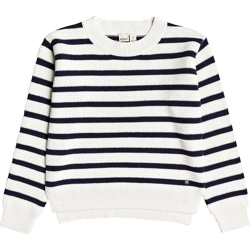 ロキシー レディース ニット・セーター アウター Roxy Women's Deep Honey Sweater Snow White Parisan Stripes