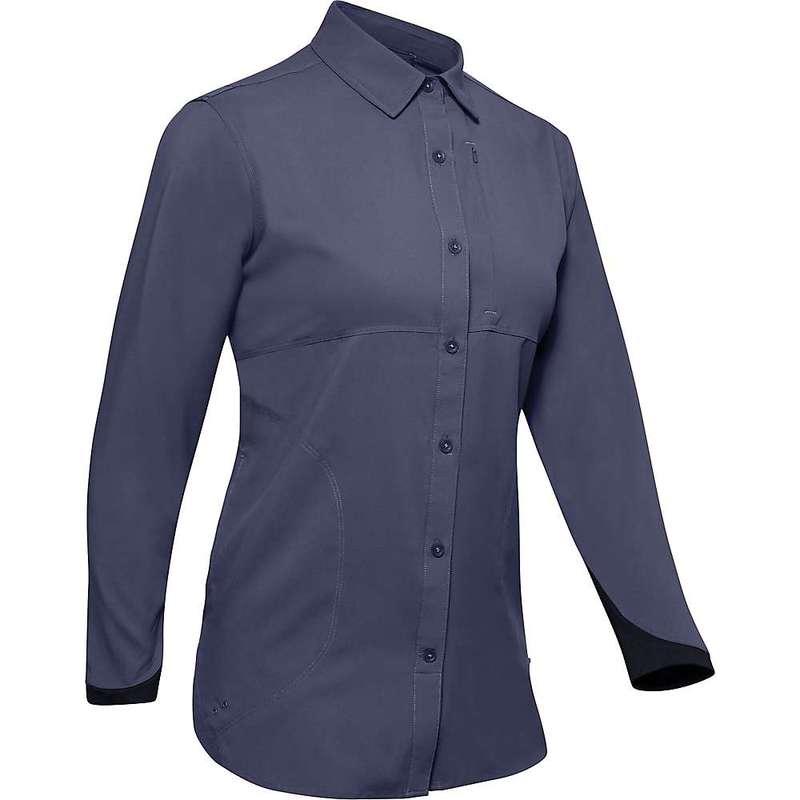 アンダーアーマー レディース シャツ トップス Under Armour Women's Tide Chaser 2.0 LS Shirt Blue Ink / Black