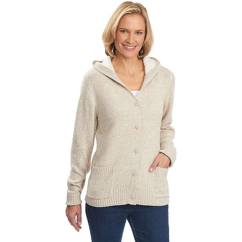 ウール リッチ レディース ニット・セーター アウター Woolrich Women's Tanglewood Button Front Hoodie Wool Cream