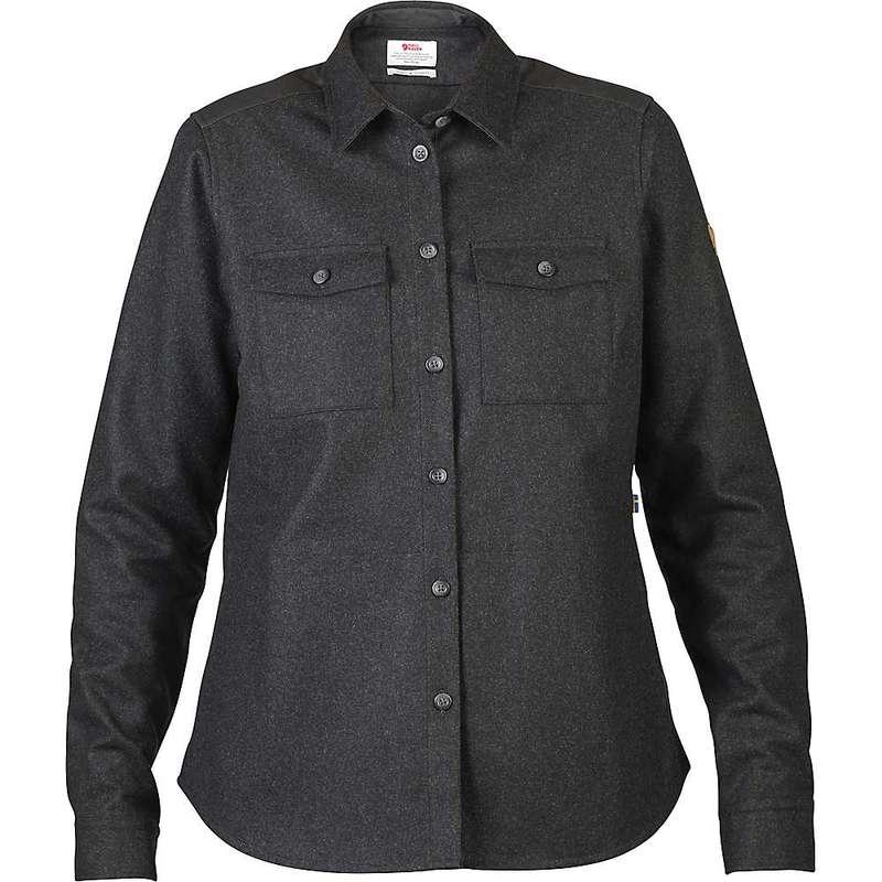 フェールラーベン レディース シャツ トップス Fjallraven Women's Ovik Re-Wool LS Shirt Dark Grey