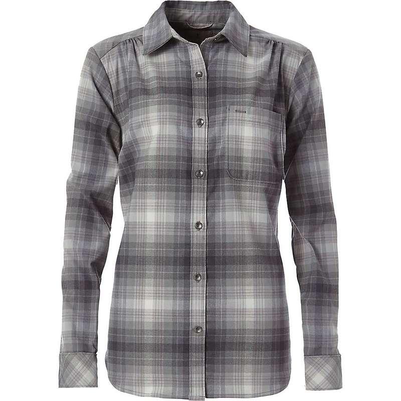 ロイヤルロビンズ レディース シャツ トップス Royal Robbins Women's Merinolux Flannel LS Shirt Lt Pewter