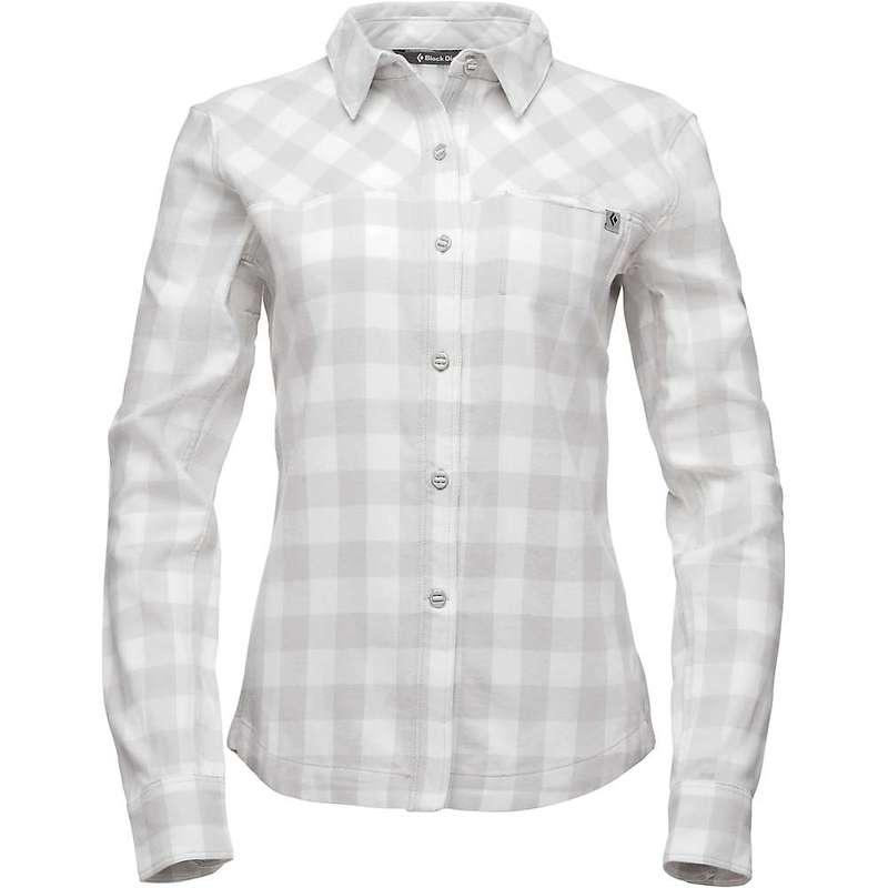 ブラックダイヤモンド レディース シャツ トップス Black Diamond Women's LS Spotter Shirt Aluminum / Ice Plaid