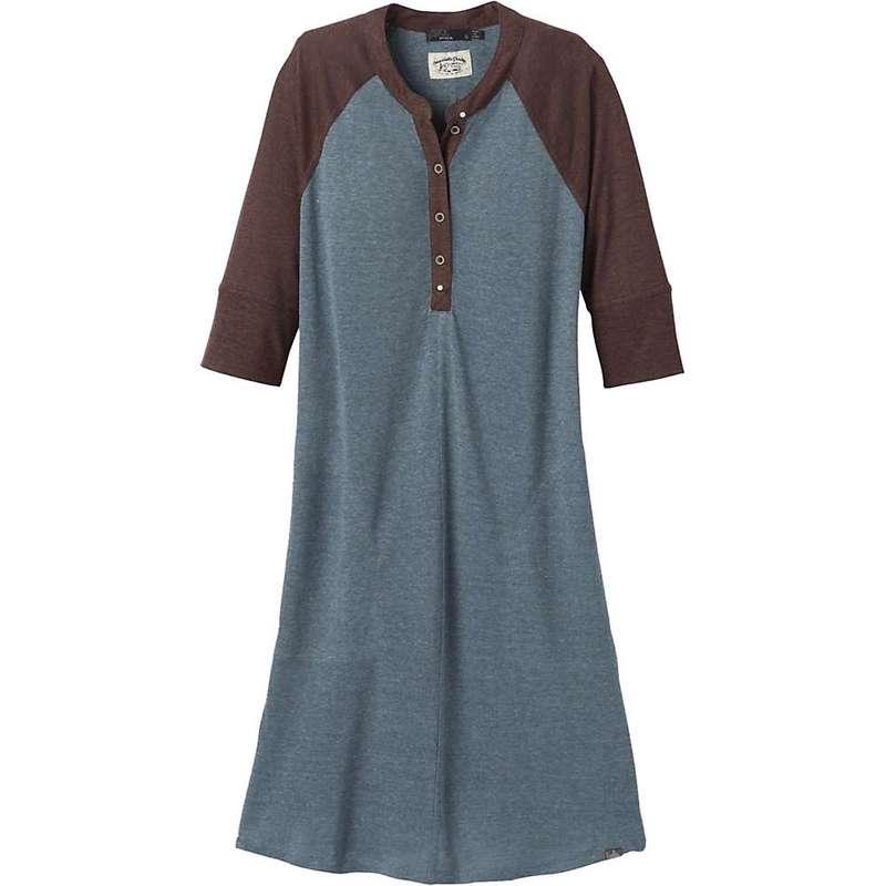 プラーナ レディース ワンピース トップス Prana Women's Cozy Up Henley Dress Plus Vintage Blue Heather