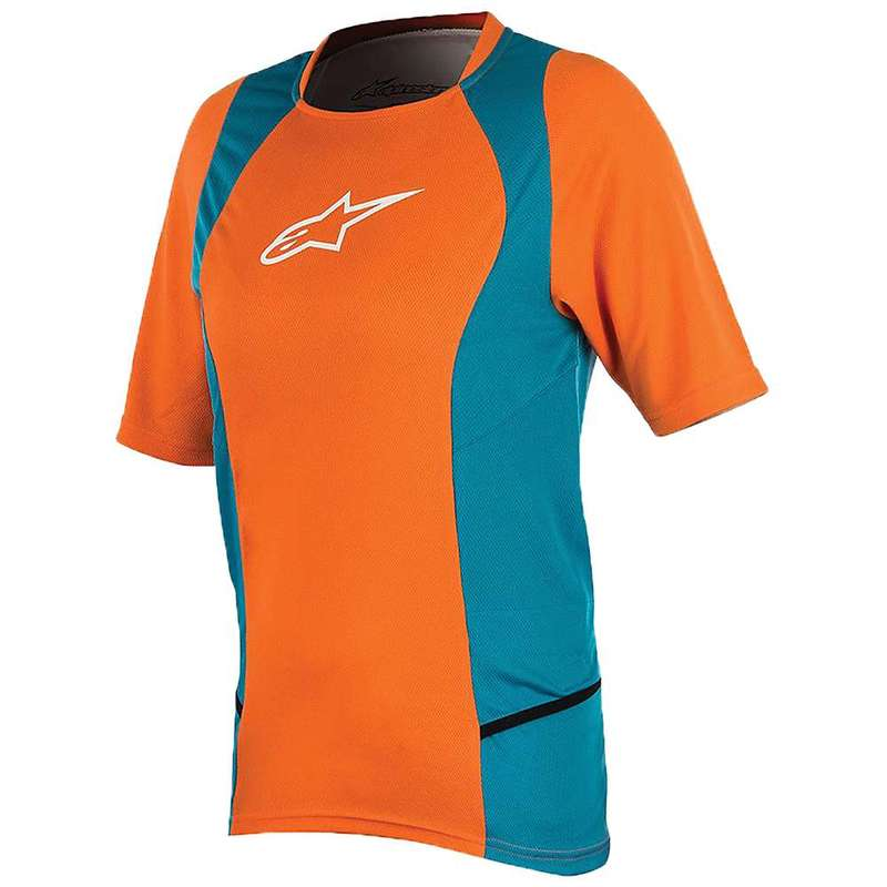 アルパインスターズ レディース シャツ トップス Alpine Stars Women's Stella Drop 2 SS Jersey Bright Orange / Ocean
