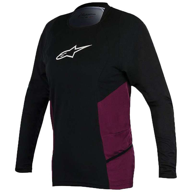 アルパインスターズ レディース シャツ トップス Alpine Stars Women's Stella Drop 2 LS Jersey Black / Plum