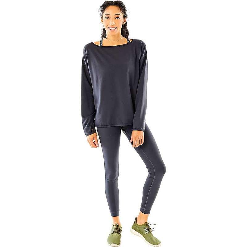 カーブデザイン レディース シャツ トップス Carve Designs Women's Hayley Reversible Pullover Black / Agate