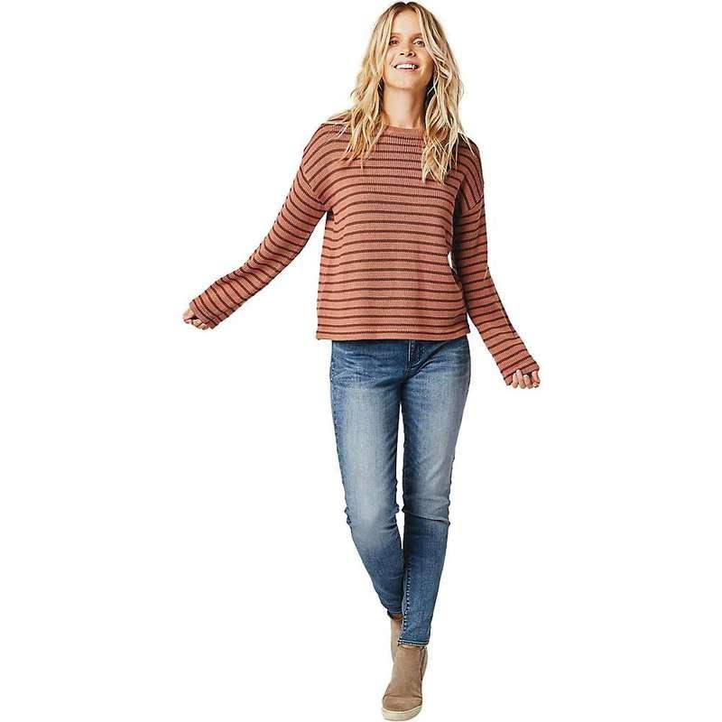 カーブデザイン レディース ニット・セーター アウター Carve Designs Women's Whitcomb Sweater Red Rock Brunette Stripe