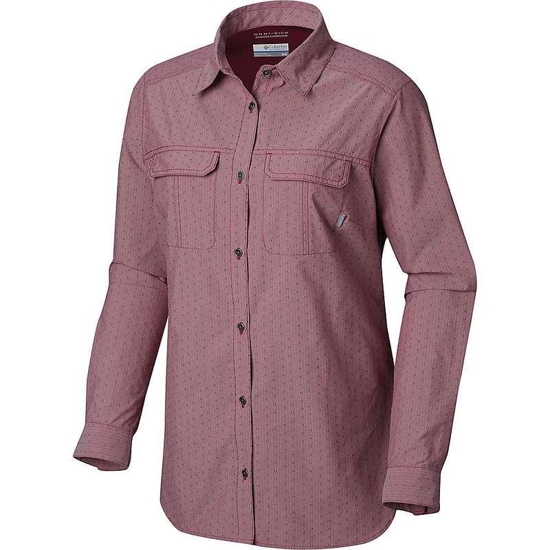 コロンビア レディース シャツ トップス Columbia Women's Pilsner Peak Novelty LS Shirt Wine Berry Stripe