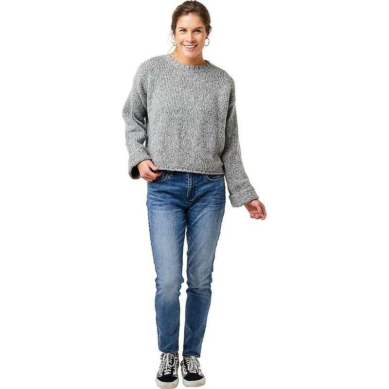 送料無料 サイズ交換無料 カーブデザイン レディース アウター ニット セーター Limestone Designs Women's Heather 4年保証 Crop Sweater 買い物 Carve Estes