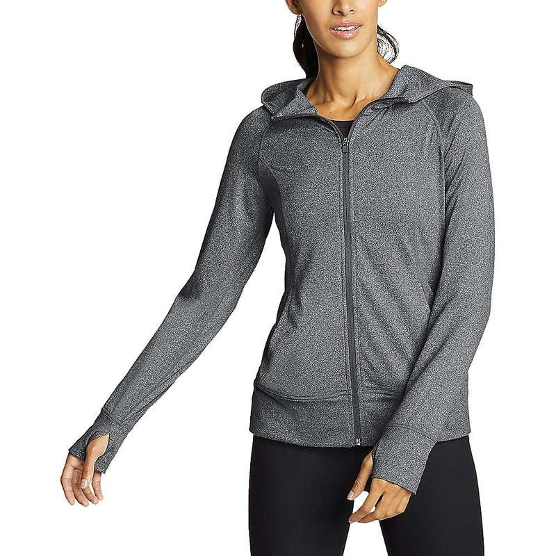 エディー バウアー レディース シャツ トップス Eddie Bauer Motion Women's Resolution 360 Full Zip Hoodie Heather Gray