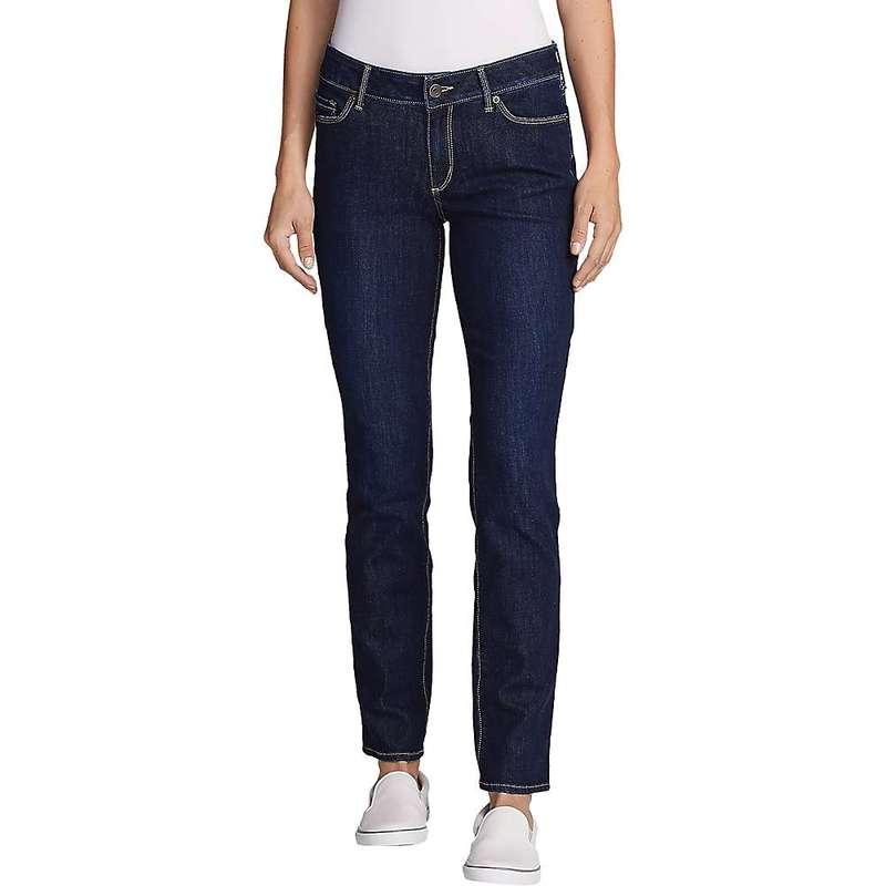 エディー バウアー レディース カジュアルパンツ ボトムス Eddie Bauer Travex Women's Voyager Mid Rise Slim Fit Pant Dark Indigo