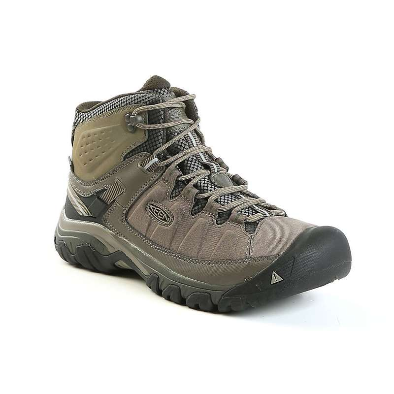 キーン メンズ ブーツ・レインブーツ シューズ Keen Men's Targhee Exp Mid Waterproof Shoe Bungee Cord / Brindle