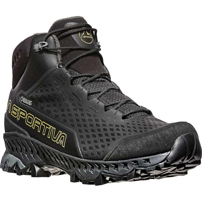 送料無料 サイズ交換無料 ラスポルティバ メンズ シューズ ブーツ 当店限定販売 レインブーツ Black La Yellow Men's Sportiva Stream 優先配送 GTX Boot