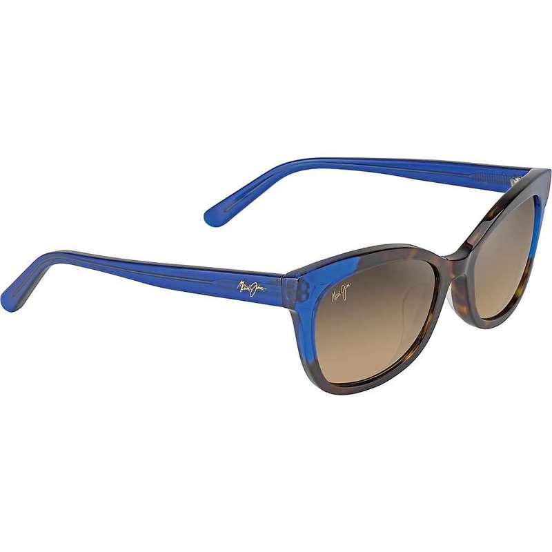 マウイジム レディース サングラス・アイウェア アクセサリー Maui Jim Women's Ilima Polarized Sunglasses Dark Tortoise with Electric Blue/HCL Bronze