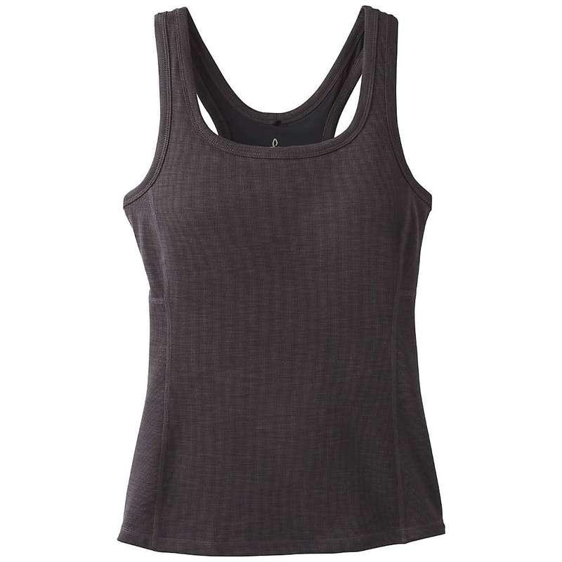 プラーナ レディース Tシャツ トップス Prana Women's Becksa Tank Plus Black Heather