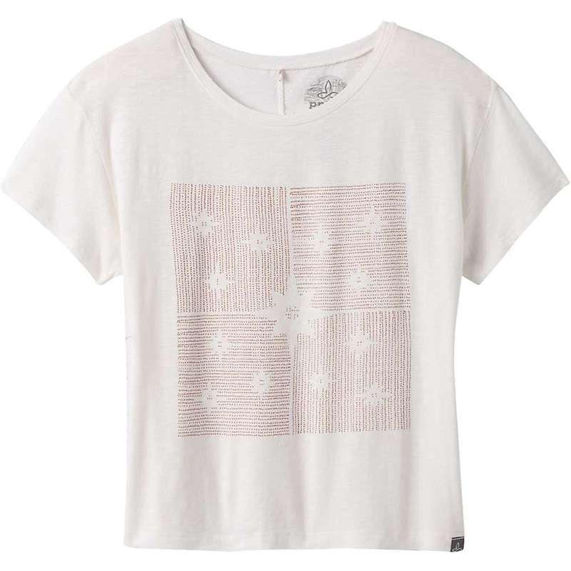 プラーナ レディース Tシャツ トップス Prana Women's Chez Tee Plus Soft White Constellations