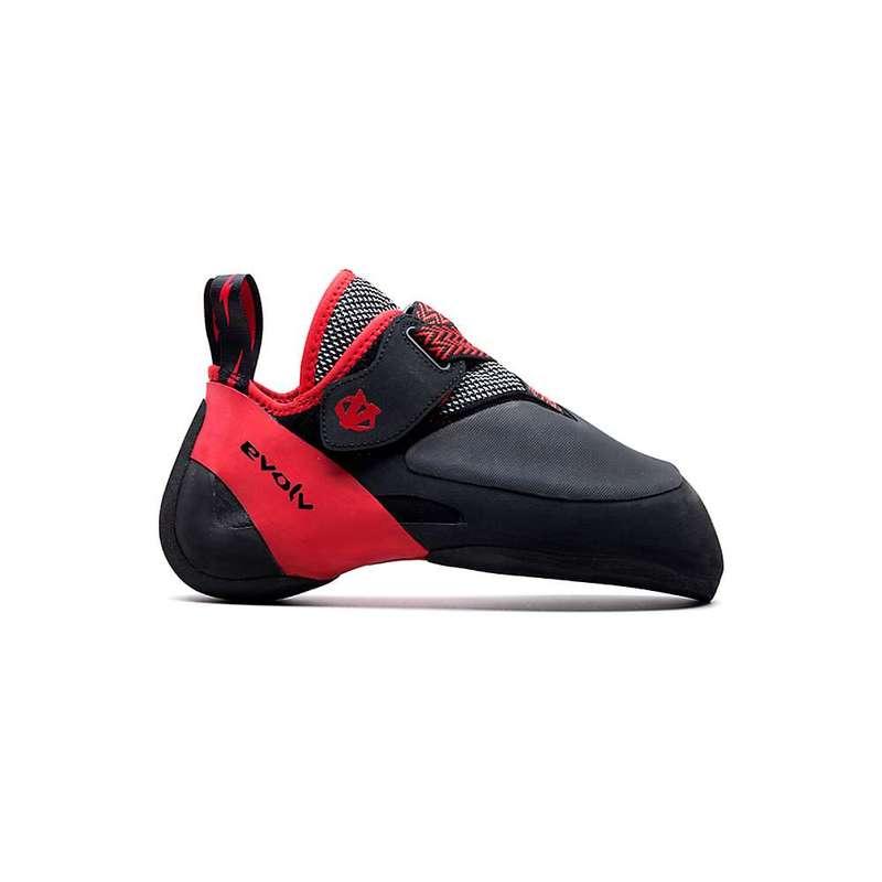 エボルブ メンズ スニーカー シューズ Evolv Men's Agro Climbing Shoe Black / Red