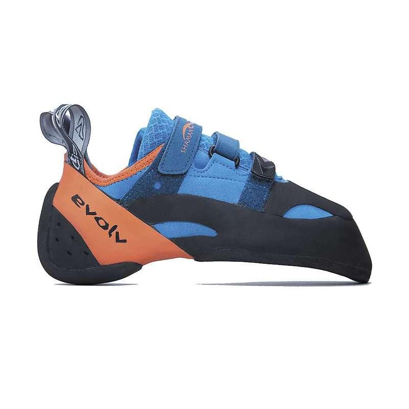 エボルブ メンズ スニーカー シューズ Evolv Men's Shaman Climbing Shoe Blue / Orange