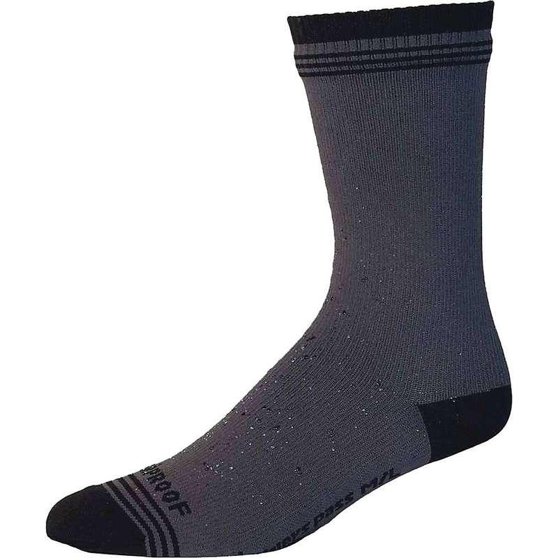 シャワーパス メンズ 靴下 アンダーウェア Showers Pass Crosspoint Waterproof Wool Crew Sock Grey Black