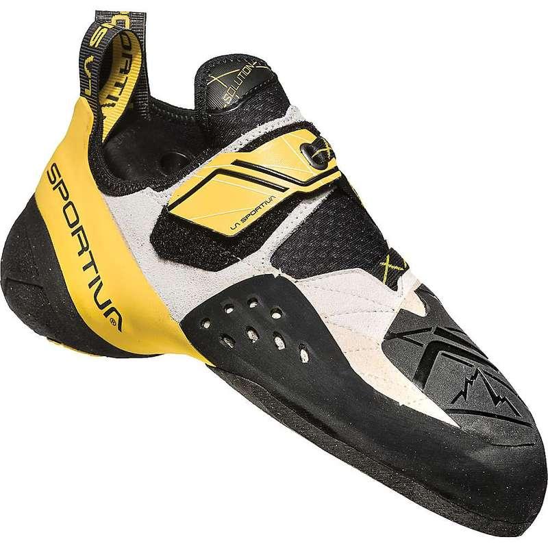 ラスポルティバ メンズ スニーカー シューズ La Sportiva Men's Solution Climbing Shoe White / Yellow