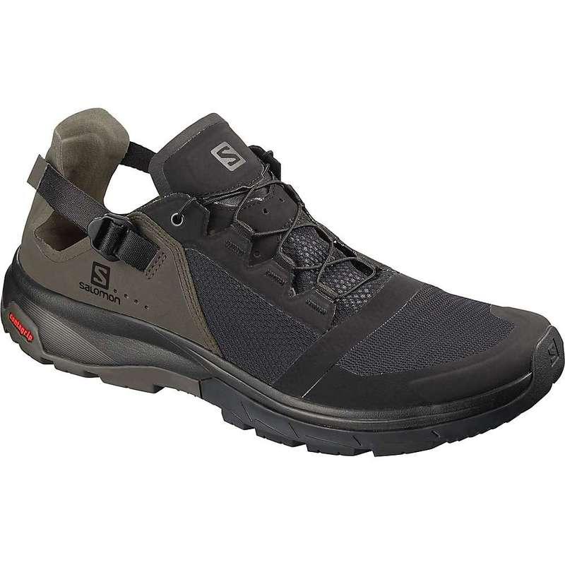 サロモン メンズ ブーツ・レインブーツ シューズ Salomon Men's Techamphibian 4 Shoe Black / Beluga / Castor Gray