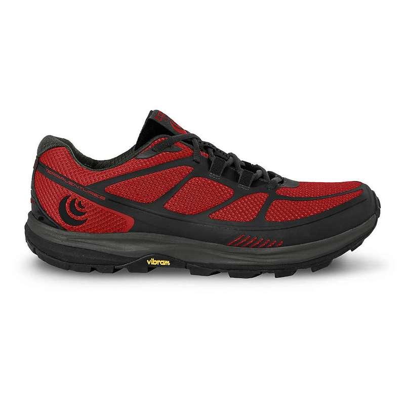 トポアスレチック メンズ スニーカー シューズ Topo Athletic Men's Terraventure 2 Running Shoe Red / Black