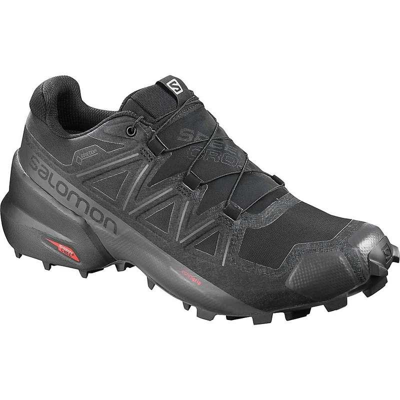 サロモン メンズ スニーカー シューズ Salomon Men's Speedcross 5 GTX Shoe Black / Black / Phantom