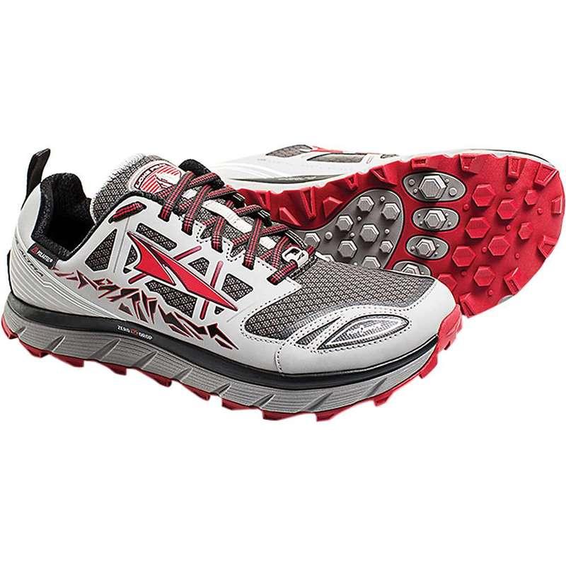 オルトラ メンズ スニーカー シューズ Altra Men's Lone Peak 3.0 Low NeoShell Shoe Grey / Red