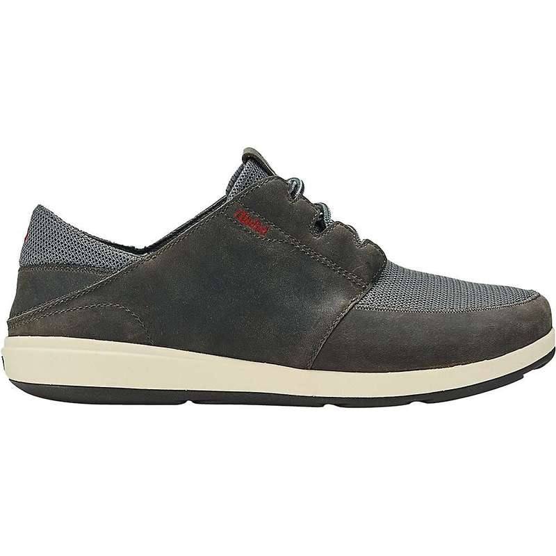 オルカイ メンズ スニーカー シューズ OluKai Men's Makia Lace Shoe Charcoal / Charcoal