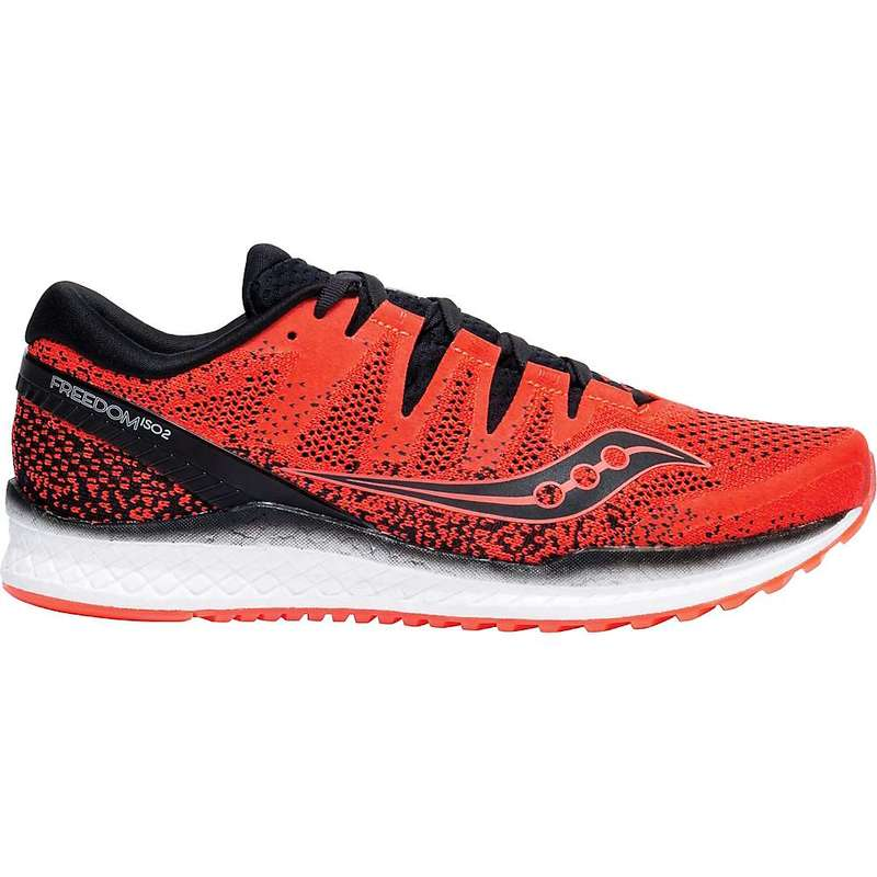 サッカニー メンズ スニーカー シューズ Saucony Men's Freedom ISO 2 Shoe ViziRed / Black
