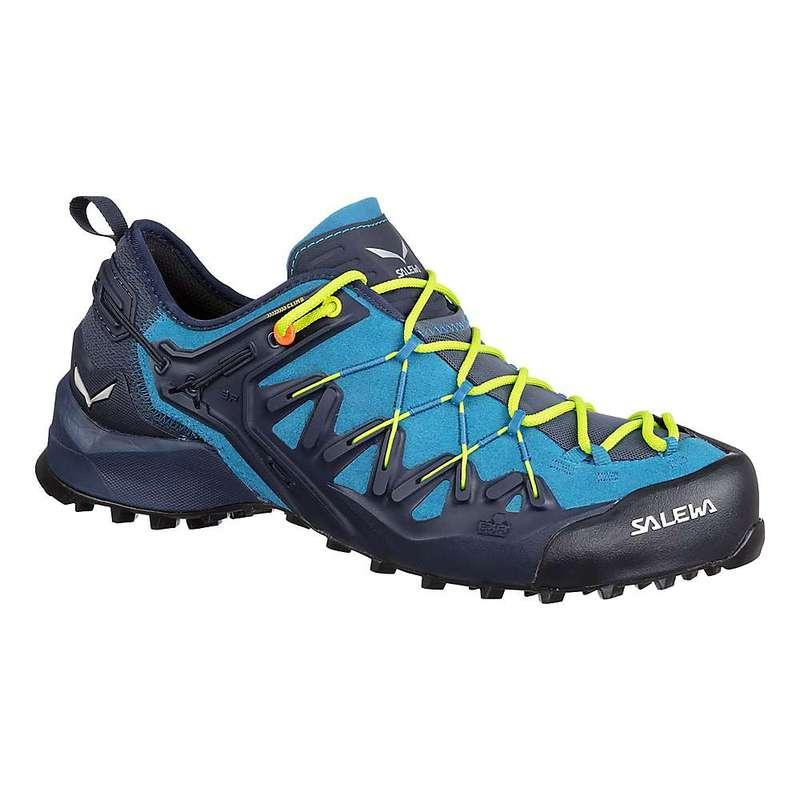 サレワ メンズ ブーツ・レインブーツ シューズ Salewa Men's Wildfire Edge Shoe Premium Navy / Fluo Yellow