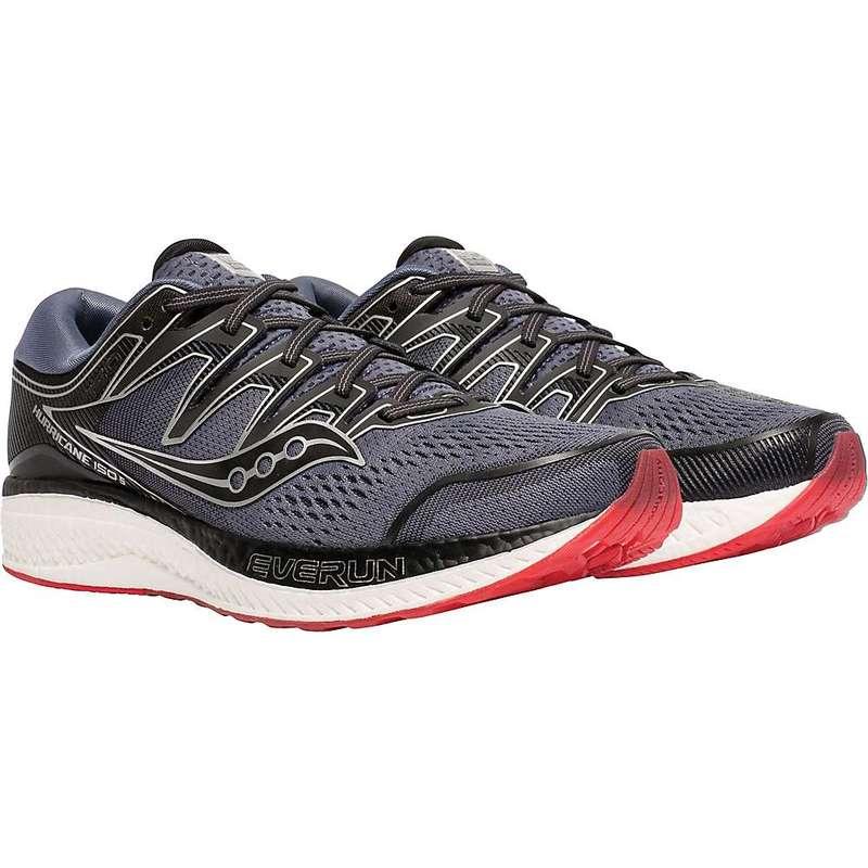 サッカニー メンズ スニーカー シューズ Saucony Men's Hurricane ISO 5 Shoe Grey/Black