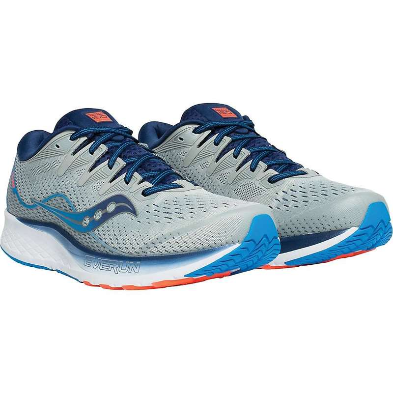 サッカニー メンズ スニーカー シューズ Saucony Men's Ride ISO 2 Shoe Grey / Blue