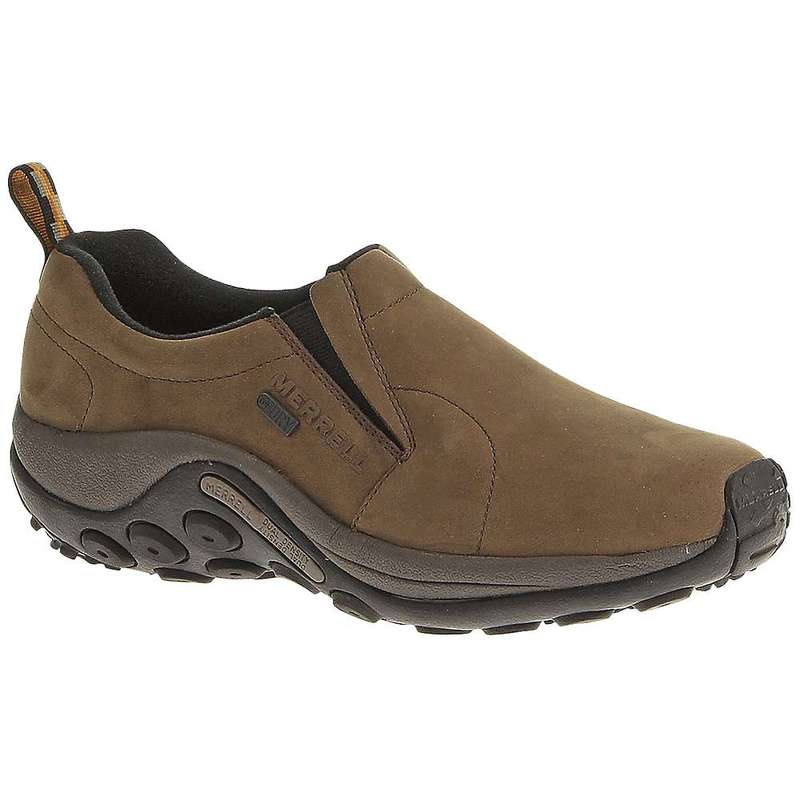 メレル メンズ スニーカー シューズ Merrell Men's Jungle Moc Nubuck Waterproof Shoe Brown