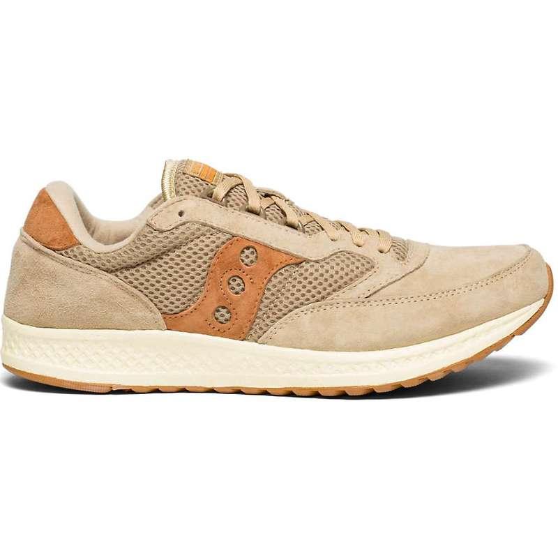 サッカニー メンズ スニーカー シューズ Saucony Men's Freedom Runner Shoe Almond / Tan