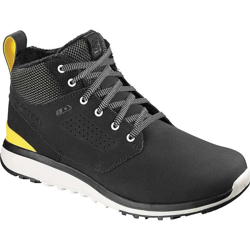 サロモン メンズ ブーツ・レインブーツ シューズ Salomon Men's Utility Freeze CS Waterproof Shoe Black / Black / Empire Yellow