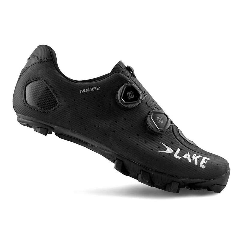 レイク メンズ スニーカー シューズ Lake Men's MX 332 Cycling Shoe Black/Silver