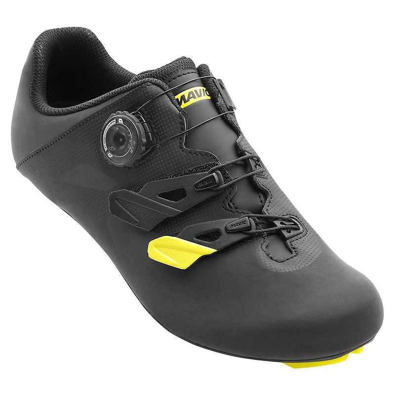 マビック メンズ スニーカー シューズ Mavic Men's Cosmic Elite Vision CM Cycling Shoe Black / Mavic Yellow