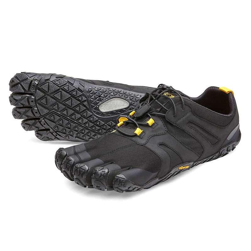 ビブラムファイブフィンガーズ メンズ スニーカー シューズ Vibram Five Fingers Men's V-Trail 2.0 Shoe Black / Yellow