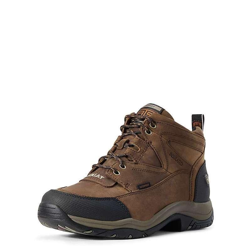 アリアト メンズ ブーツ・レインブーツ シューズ Ariat Men's Terrain H2O Insulated Boot Distressed Brown